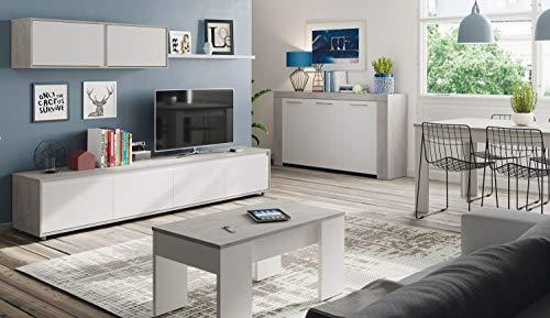 Miroytengo Pack Muebles salón Comedor Plutón III (Mueble Modular+Mesa Centro+Mesa Comedor+Aparador)
