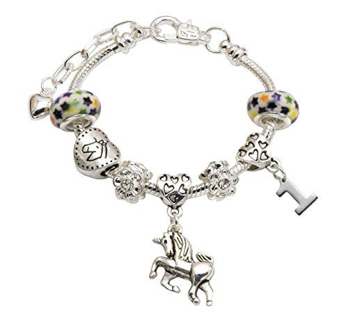 Jewellery Hut - Braccialetto con Ciondolo a Forma di Unicorno, con Confezione Regalo
