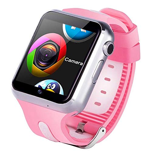 GPS Kids Smart Watch Fitness Tracker Phone Waterproof Acticity Trackers Heart Rate Monitor Smartwatch Sports Camera Watches Music Player Smart Watches for Kids Teen Boys Girls Birthday Gifts Android
