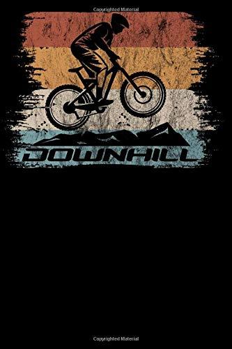 Downhill: Notizbuch DIN A5 Kariert 120 Seiten Fahrrad Retro Vintage Style MTB Mountainbike Rennrad Radsport Bike als Geschenkidee & Geschenk zum ... Planer Tagebuch Notizheft Notizblock