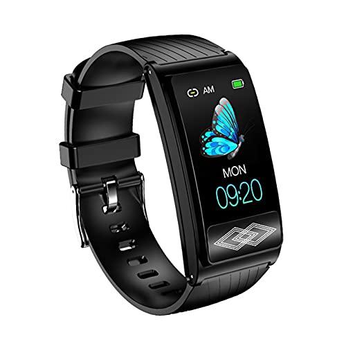 YDZ P10 Smart Watch Holter Tarifa Cardíaca Monitoreo De La Presión Arterial Seguimiento De Actividades para Hombres Y Mujeres Inteligentes para Mujer para Android iOS,B