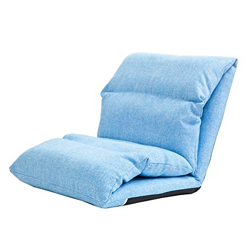 LJFYXZ Canapé Paresseux Chaise Réglage à 5 Vitesses Canapé arrière épais Coton et Lin Facile à enlever et à Laver Chambre dortoir Tapis Multicolore en Option (Couleur : Bleu)