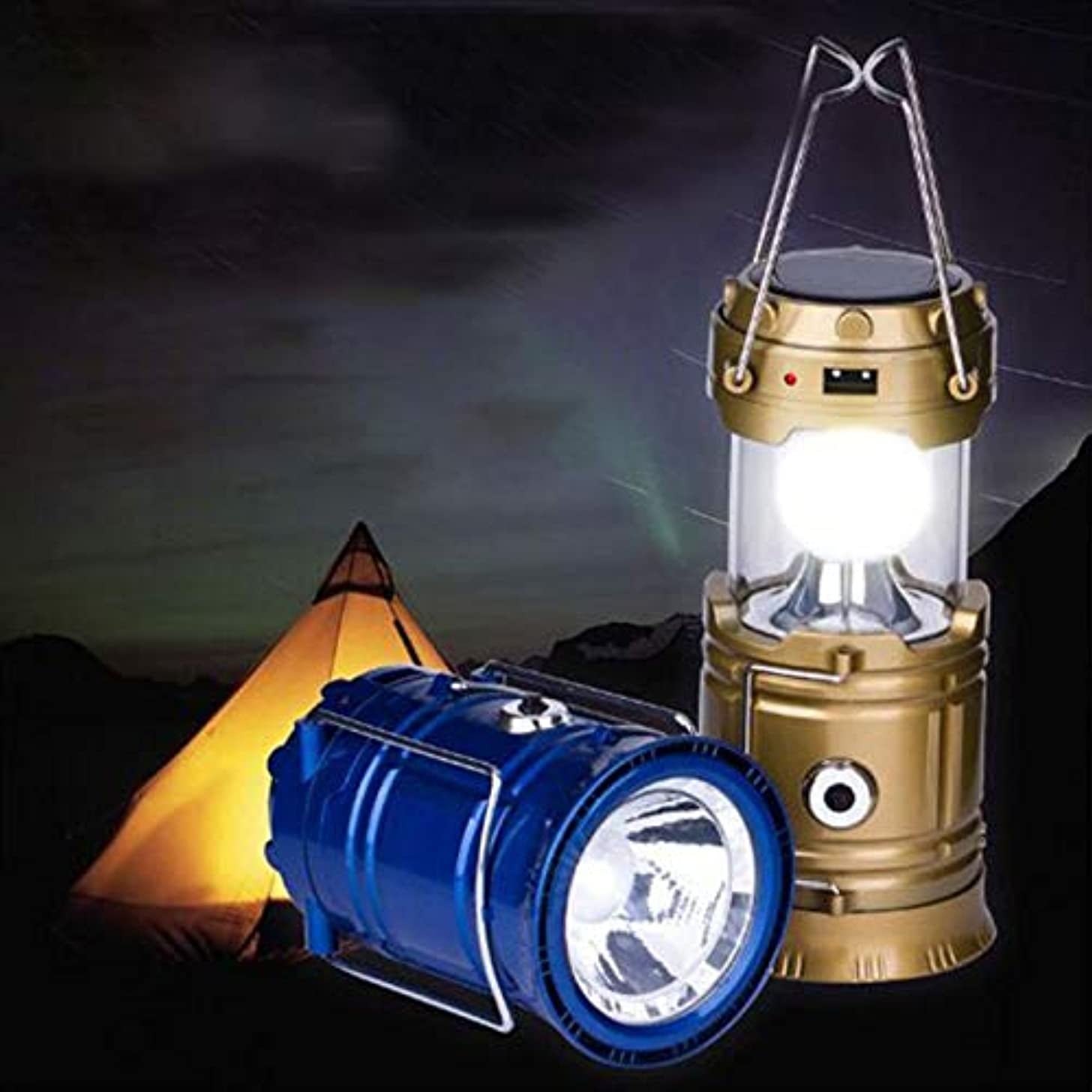 AXDZ Solar Powered Portable Stage Flashlight Retractable Flame Rechargeable Solar Lantern Lights Flame