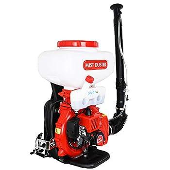 Pumplus 5.5 Gallon Gas Powered Sprayer Backpack Fogger Blower Duster Leaf Blower 2.45HP 2 Stroke Engine for Spray Liquid or Dust Garden Lawn Sprayer