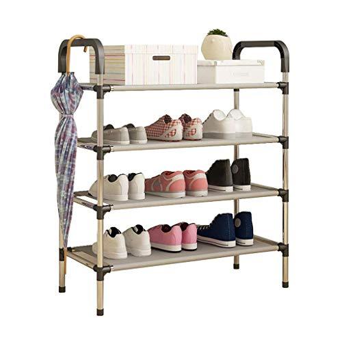 XXCHUIJU Zapatero organizador estantes torre de almacenamiento apilable 4 niveles DIY montaje estante pie pasillo entrada zapatos organizador
