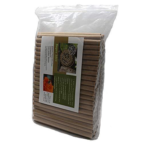 Super Idee 100er Set Insektenhotel füllung Pappröhrchen Füllmaterial zum selber Bauen Umweltfreundlichen Basteln aus Kraftpapier für Insektenhaus Wildbienenhotel Wildbienenhaus Bienenhotel Nisthilfen