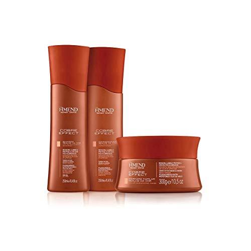 Kit Amend Realce da Cor Cobre Effect - Shampoo, Condicionador e Máscara Tonalizante