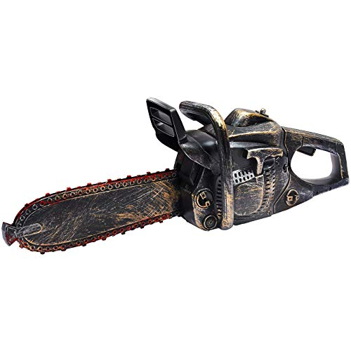 Liberty Imports Bloody Rusty Chainsaw Motion and Sound Battery Operated Halloween Massacre Role Play Prop Accessory (16 Inches)