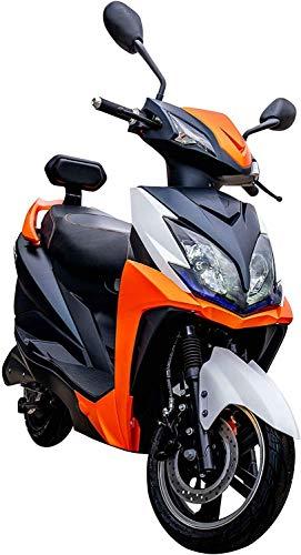 "Elektroroller ""FALCON"", 3400 Watt, 80 km Reichweite, 45 km/h, E-Scooter, Elektro-Roller, E-Roller mit Straßenzulassung, herausnehmbarer Lithium-Akku, Produktvideo, Orange"