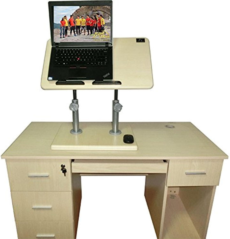 Jia He Lapdesks Stand-Up Computer Desk - Steh-Bürotisch Schreibtisch Büchertisch Tablettisch für Kinder Optionale Farbe, Gre (Farbe   Holz, gre   Suitable for Height Above 170)