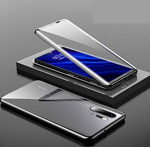 NANXCYR Voor Huawei P30pro Case, Magnetische Front Back Glass Case Schokbestendig Clear Cover Volledige Bescherming Cover,voor Huawei P30