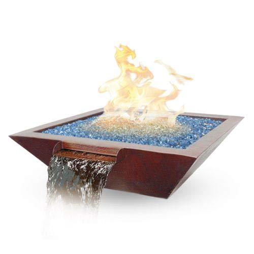 Review Custom Cascade 29x29x9 Cabana Fire/Water Bowl Elec-LP 70lb Glass