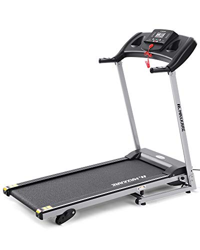 MaxKare Folding Treadmill Running Machine 17' Wide Electric Treadmill 3 Levels Manual Incline 1.5 HP Power Easy Assembly for Home Use