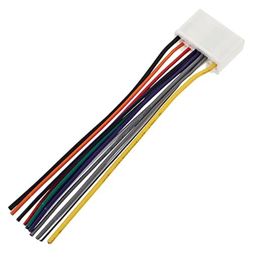 VICASKY Arnés de Cable de Radio de Coche 12 Pines Cable de Radio de Doble Cable Adaptador Estéreo Conector Adaptador de Enchufe de Alimentación para Conectar El Receptor Estéreo