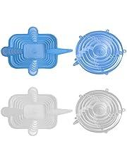 24 Piezas De Tapa EláStica De Silicona Cubierta De Silicona Reutilizable Diferentes TamañOs Y Tapa Rectangular Para TTazas Ollas Sartenes - Hornos Y Congeladores