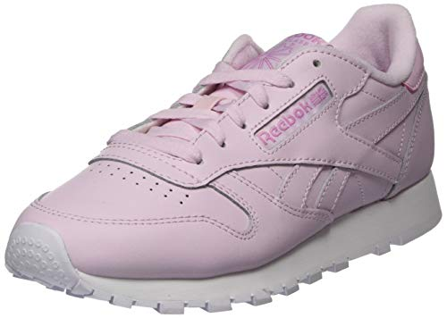 Reebok Womens CL LTHR Gymnastics Shoe, Pixel Pink/White/Jasmine Pink, 41 EU