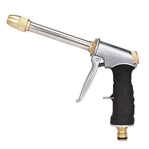 CYSJ Pistola de Agua para jardín, Pistola antifugas, Boquilla de multifunción para Manguera, para Pistola rociadora de Alta presión para Lavado de Coches, Herramienta de riego de jardín – Plata