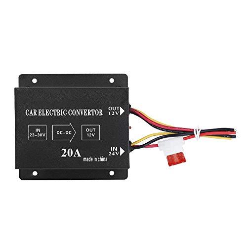 Annjom Reductor de Potencia, convertidor eléctrico, Reductor de Voltaje de 24V a(24V...