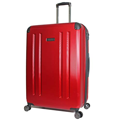 Kenneth Cole Reaction 8 Wheelin Expandable Luggage Spinner Suitcase 29' (Red)