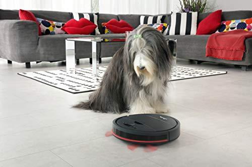 Vileda VR 201 PetPro Saugroboter (optimiert für Tierhaare, 90 Minuten Laufzeit), Kunststoff, dunkelgrau, 32 x 8 cm - 7
