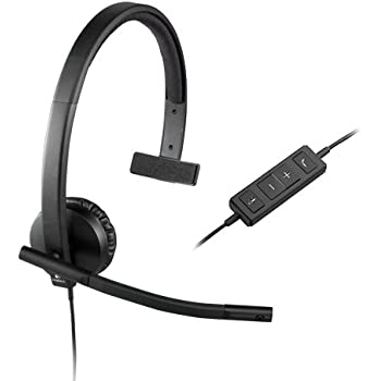 Logitech USB H570e Corded Single-Ear Headset