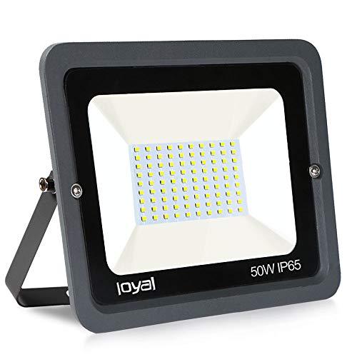 50W LED Strahler Außen loyal LED Scheiwerfer 4500LM Superhell Fluter,IP66 wasserdicht Industriestrahler,Kühles Weiß Flutlicht-Strahler,Außen-Leuchte Flutlicht-Strahler für Außenbereich …