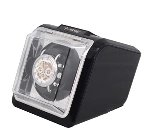JIAJBG Caja automática de reloj mecánico automática, reloj, caja de reloj, caja de reloj, caja de girado, simple y ligero clásico/blanco