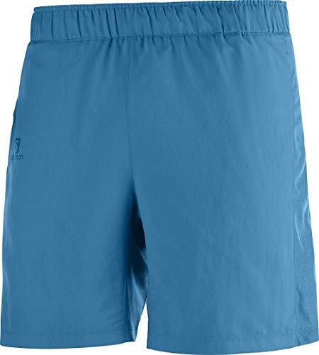 SALOMON Agile 7'' Short Pantalón Corto, Hombre, fjord Blue, XS