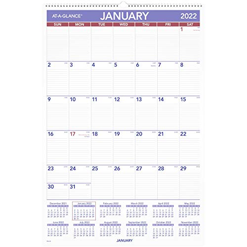 2022 Wall Calendar by AT-A-GLANCE, 20' x 30', Extra Large, Monthly (PM428)