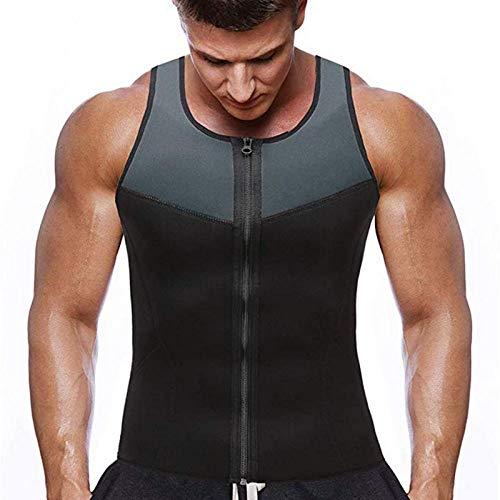 Moda Para Hombre Fitness Gym Neopreno Sauna Chaleco Sudor Sudor Cintura Entrenador Forma Del Cuerpo Pérdida De Peso Traje De Adelgazamiento Adelgazamiento Chaleco Con Cremallera -1_xl_r Quemagrasa