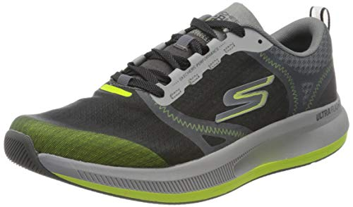Skechers Performance Go Run Pulse, Zapatillas Hombre, Multicolor (CCLM Black Textile/Synthetic/Orange Trim), 41 EU