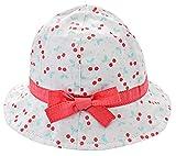 Happy Cherry - Sombrero con ala Bucket para Niñas Bebés Estampado Estrella Gorra Pescador Protección de Sol Cordón Ajustable para Verano Playa - 3-9 Meses/46cm
