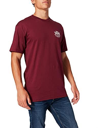 Vans Holder ST Classic Camiseta, Borgoña-Blanco, XXL para Hombre