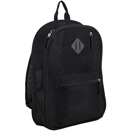 Eastsport Active Semi Transparent Soft Comfortable Mesh Backpack, Black