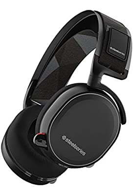 SteelSeries Arctis 7 Legacy Edition, Lag-Free Wireless Gaming Headset, DTS 7.1 Surround for PC, PC/Mac/PlayStation 4/Mobile/VR - Black