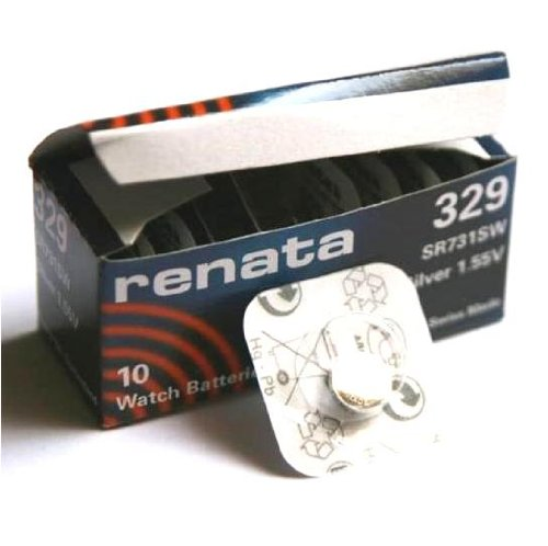 1 x Renata 329 fabricada en Suiza pilas de litio tipo botón SR731SW