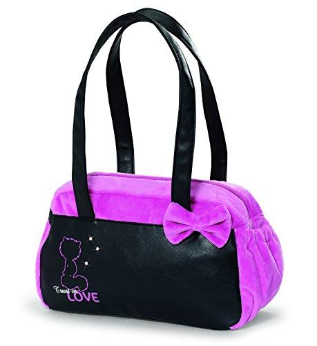 Nici 38118 - Handtasche Love, 32 x 20 x 10 cm, schwarz/pink