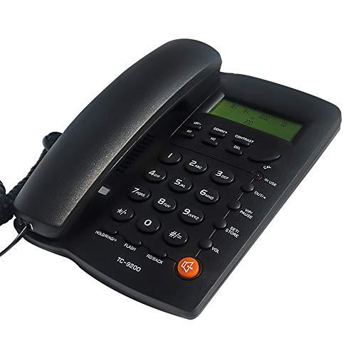 Téléphone - Bouton Anglais Fixe/Bureau / hôtel Fixe/Noir (20 * 15 * 4,5 cm)