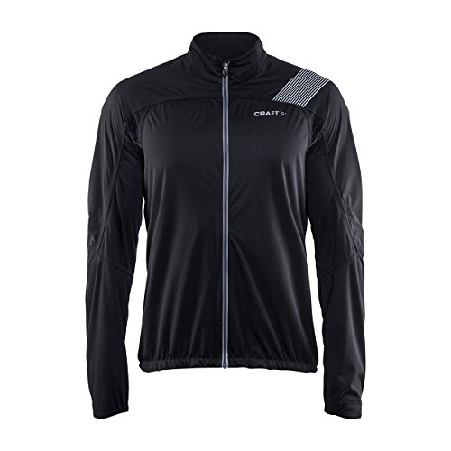 Craft Herren Verve RAIN Jacket M Regenjacke, Black, XL