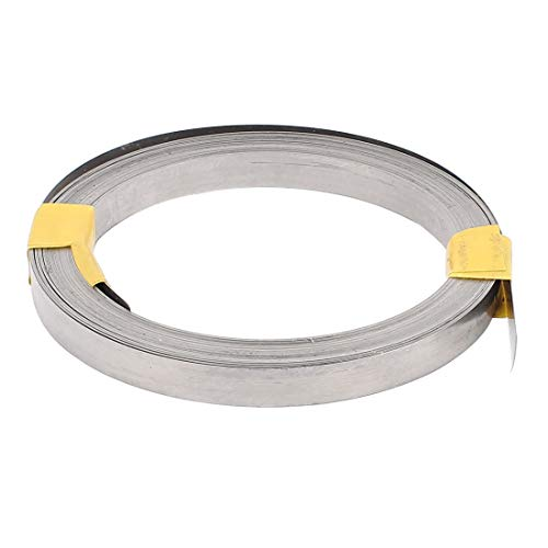 Tool Parts 15M 49Ft 0.2x12mm Nichrome Flat Heater Wire for Heating Elements 101 x 12mm Silver Tone