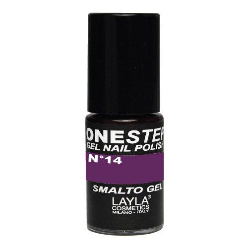 Layla Cosmetics One Step Gel Nagellack, backberry, 1er pack (1 x 0.005 L)