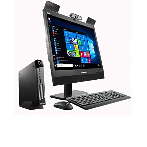 """(Renewed) Lenovo 19 Inch All In One Desktop Set /Intel i3 4th Gen/ 8 GB/ 500 GB HDD / (19"""" Monitor+Keyboard+Mouse+ HD Webcam+Mic+Speakers+Wifi)/ Warranty/Windows 10 Pro/MS Office"""