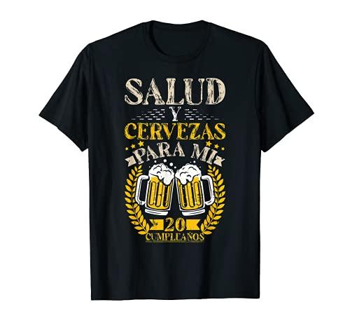 Salud Y Cervezas 20 Anos Cumpleanos Hombre Mujer Regalo Camiseta