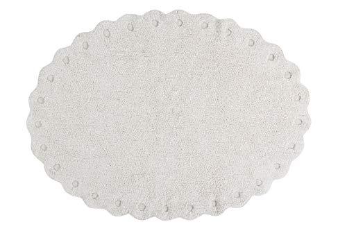 Lorena Canals Alfombra Lavable Picone Ivory - 97% algodón 3% Otra Fibra Base: algodón Reciclado - Marfil, Natural - 130x180 cm