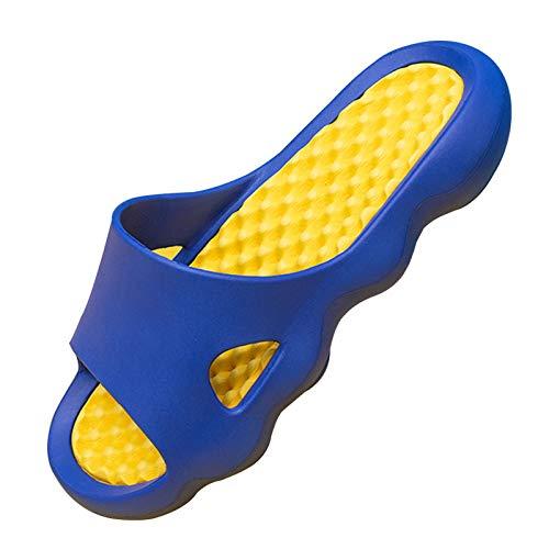 Pantuflas Para Mujeres / Hombres, Pantuflas Antideslizantes Para El Baño Interior De La Casa De Verano, Pantuflas Para Masaje De Pies Con Desodorante Al Aire Libre 44-45 azul