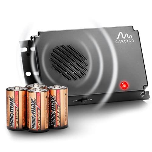 Gardigo Marder-Frei Mobil inkl. Batterien - Ultraschall Marderabwehr, Marderschreck, für Auto, Dachboden, Haus | Zum Einsatz im Motorraum geeignet