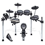 Alesis Surge Mesh Kit | Eight-Piece Electronic Drum Kit with Mesh Heads, Chrome Rack...