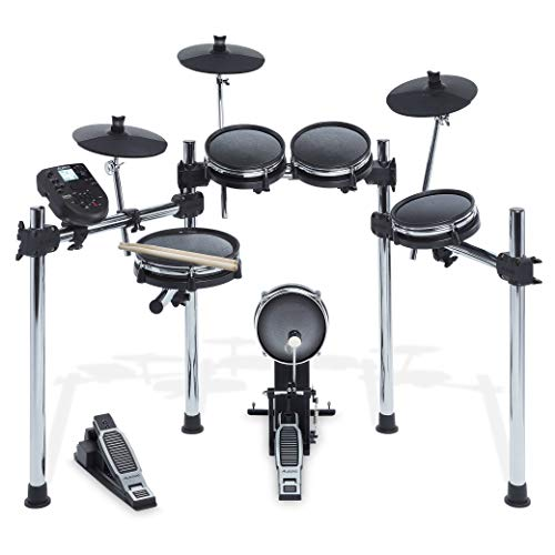Alesis Surge Mesh Kit | Eight-Piece Electronic Drum Kit with Mesh Heads, Chrome Rack and Surge Drum Module including 40 Kits, 385 sounds 60 Play Aong...