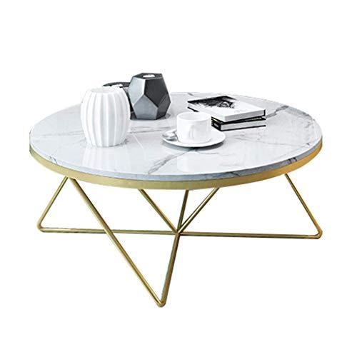 Mesa de Centro Moderna Redonda de marmol Mesa Auxiliar, circulo Sala de Estar Sofa Mesa Comedor/Cafe/Merienda/Lectura Mesa Muebles para el hogar