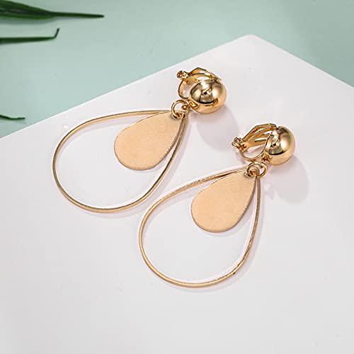 Orecchini A Clip in Argento Oro Nero A Goccia per Orecchini A Clip Geometrici Vintage da Donna Senza Piercing alle Orecchie Gioielli di Moda